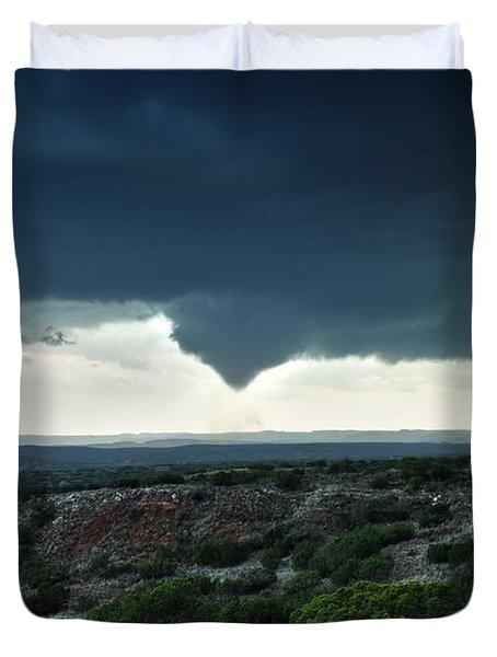 Silverton Texas Tornado Forms Duvet Cover