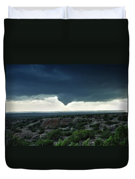 Duvet Cover featuring the photograph Silverton Texas Tornado Forms by James Menzies