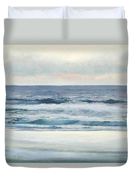 Silvery Morn Duvet Cover