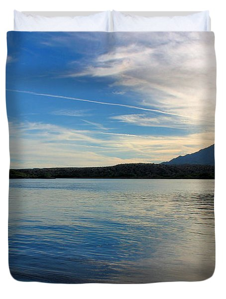 Silvery Reflection Duvet Cover by Kristin Elmquist