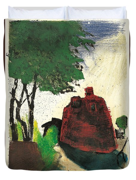 Duvet Cover featuring the painting Simiane La Rotonde by Martin Stankewitz