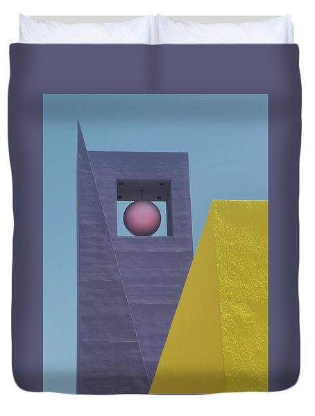 Similar Shapes Different Colors Duvet Cover by Gary Slawsky