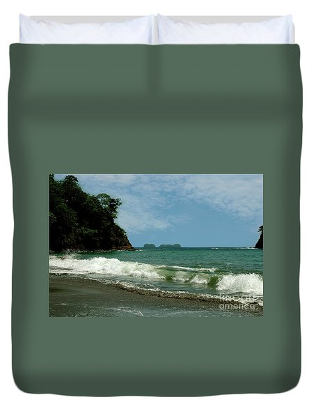 Simple Costa Rica Beach Duvet Cover
