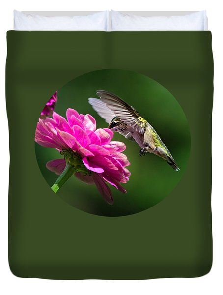 Duvet Cover featuring the photograph Simple Pleasure Hummingbird Delight by Christina Rollo