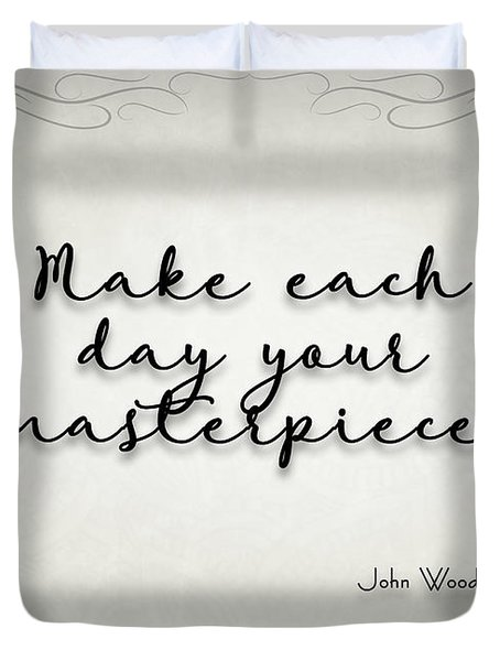 Simple Quote Series Wooden Duvet Cover