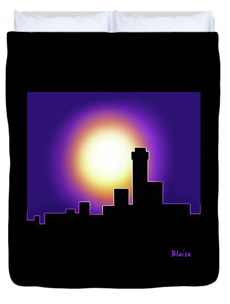 Simple Skyline Silhouette Duvet Cover