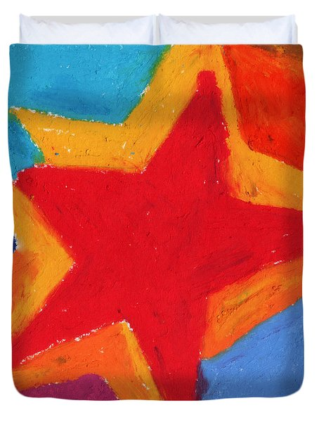 Simple Star-straight Edge Duvet Cover by Stephen Anderson