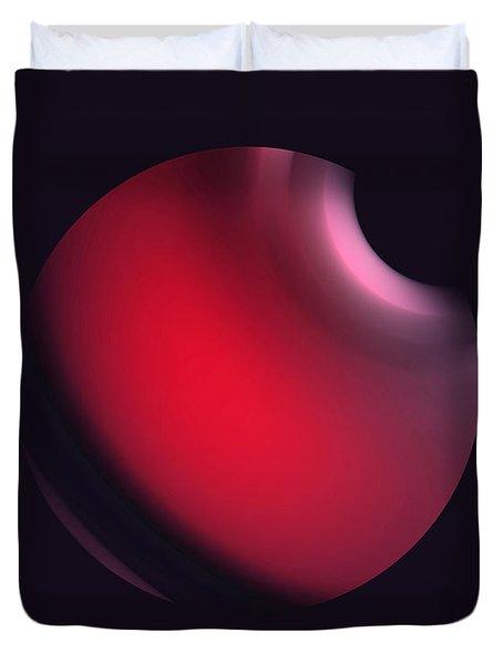 Duvet Cover featuring the digital art Simplicity 12-2 by John Krakora