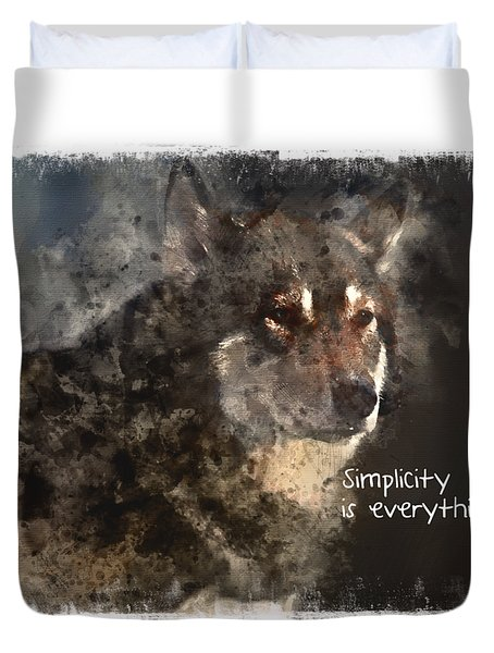 Duvet Cover featuring the digital art Simplicity by Elaine Ossipov