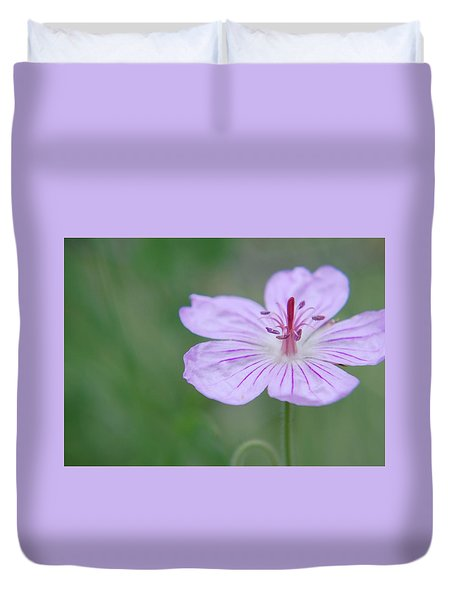 Simplicity Of A Flower Duvet Cover
