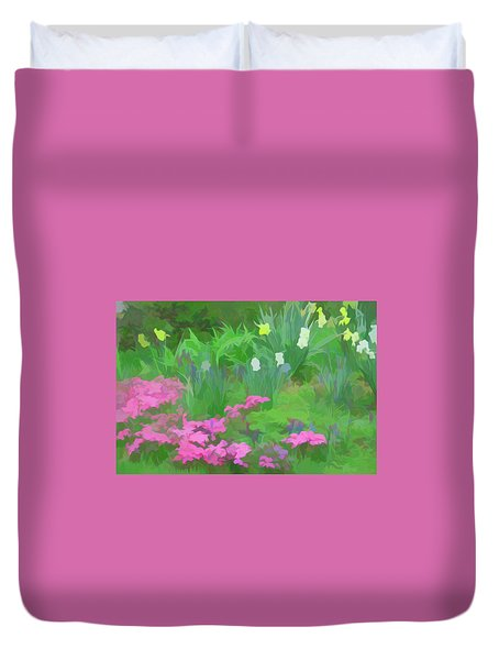Duvet Cover featuring the photograph Simply Soft Garden Escape by Aimee L Maher Photography and Art Visit ALMGallerydotcom