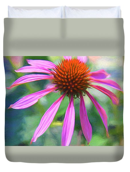 Duvet Cover featuring the photograph Simply Stated by Susan Crossman Buscho