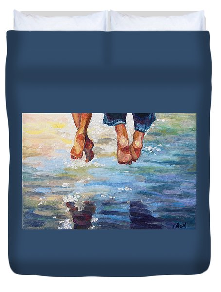 Simply Together Duvet Cover by Alina Malykhina
