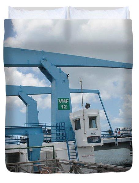 Simpson Bay Bridge St Maarten Duvet Cover