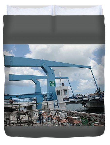 Simpson Bay Bridge St Maarten Duvet Cover