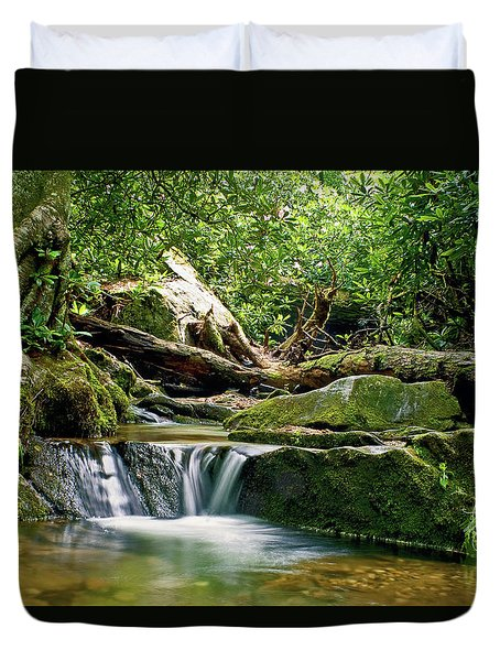 Sims Creek Waterfall Duvet Cover