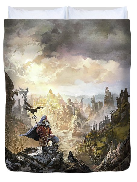 Simurgh Call Of The Dragonlord Duvet Cover