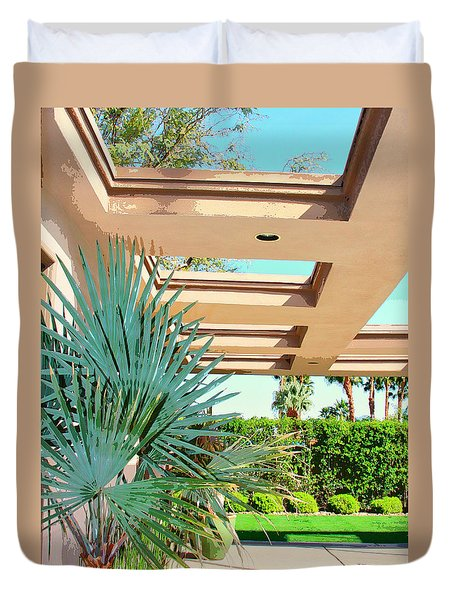 Sinatra Patio Palm Springs Duvet Cover