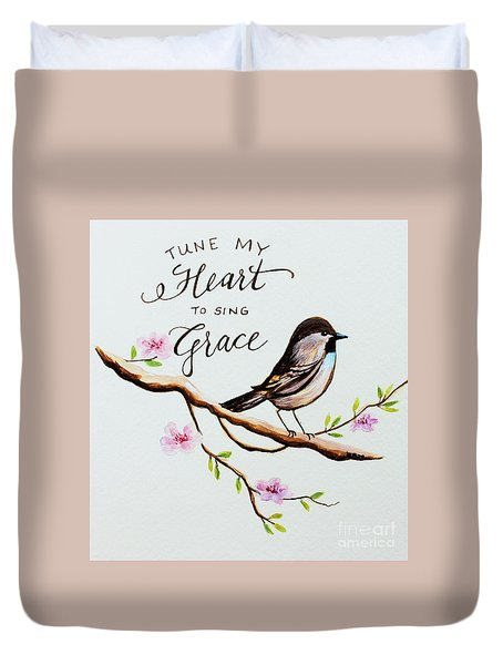 Sing Grace Duvet Cover by Elizabeth Robinette Tyndall