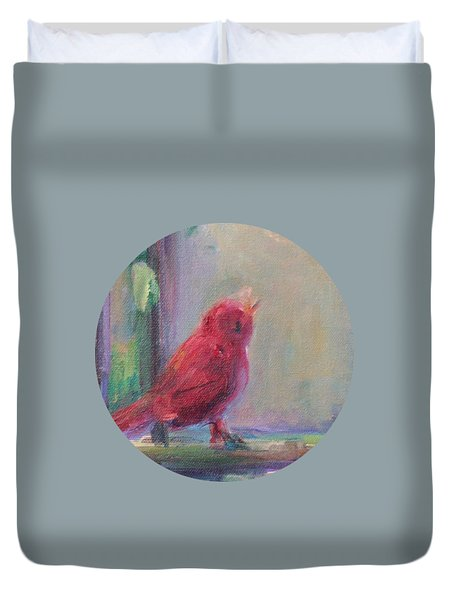 Sing Little Bird Duvet Cover