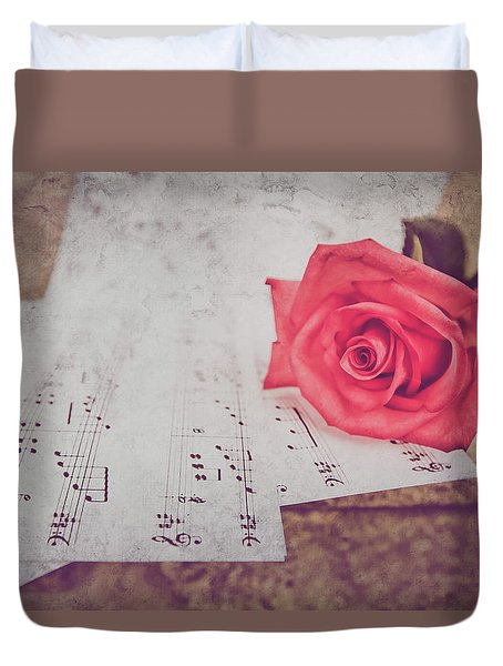 Sing Me A Love Song Duvet Cover