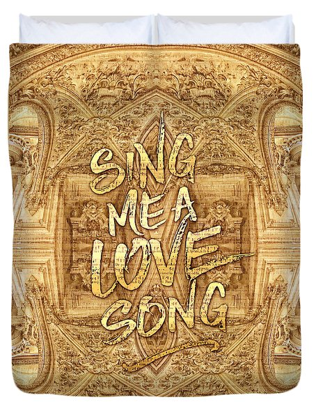 Sing Me A Love Song Opera Garnier Antique Sheet Music Duvet Cover