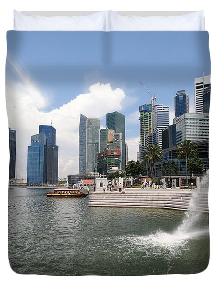 Singapore Duvet Cover by Charuhas Images