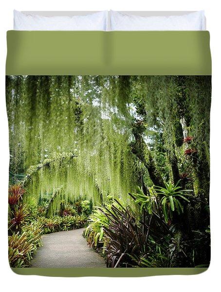 Singapore Orchid Garden Duvet Cover
