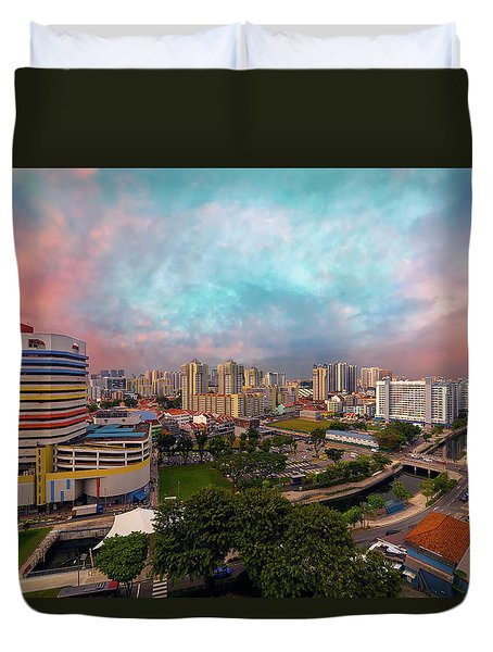 Singapore Rochor Commercial And Residential Mixed Area Duvet Cover by David Gn