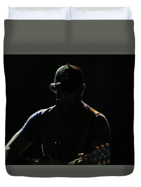 Singer Duvet Cover by Aaron Martens