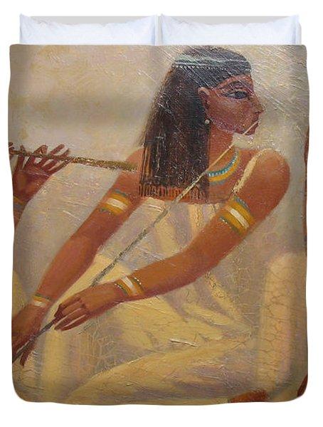 Singers Of Pharaoh Duvet Cover