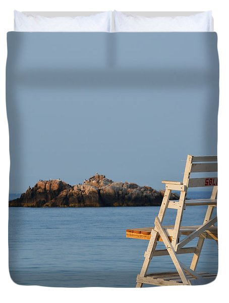 Singing Beach Lifeguard Chair Manchester By The Sea Ma Duvet Cover