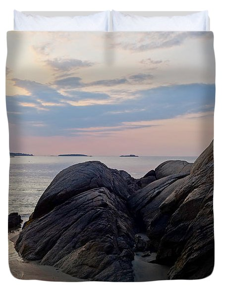 Singing Beach Rocky Sunrise Manchester By The Sea Ma Duvet Cover