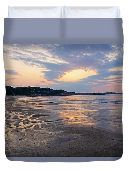 Singing Beach Sandy Beach Manchester By The Sea Ma Sunrise Duvet Cover