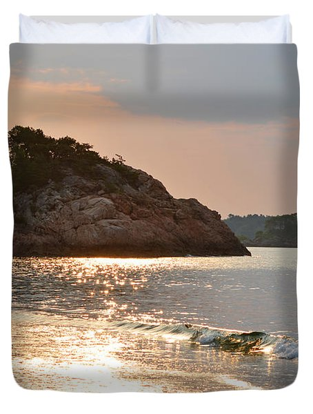 Singing Beach Silver Waves Manchester By The Sea Ma Duvet Cover