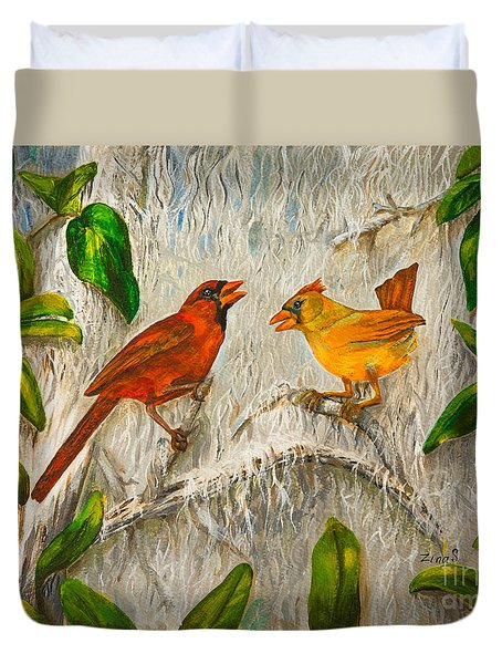Singing Of Love Duvet Cover