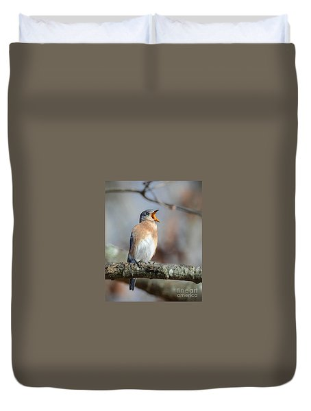 Singing This Song For You Duvet Cover by Amy Porter