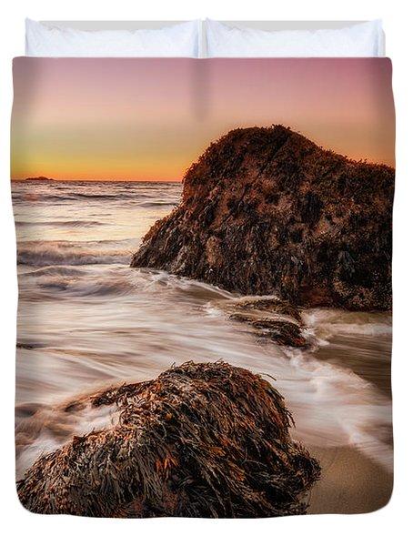 Singing Water, Singing Beach Duvet Cover