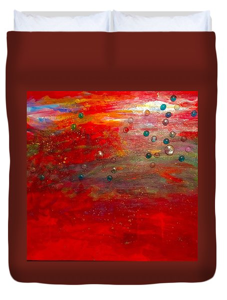 Singing With Passion Duvet Cover