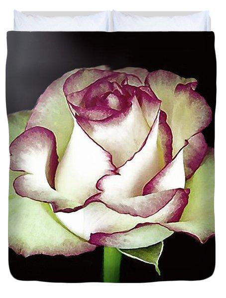 Single Beautiful Rose Duvet Cover