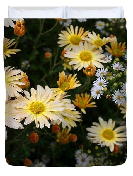 Duvet Cover featuring the photograph Single Chrysanthemums by Kathryn Meyer