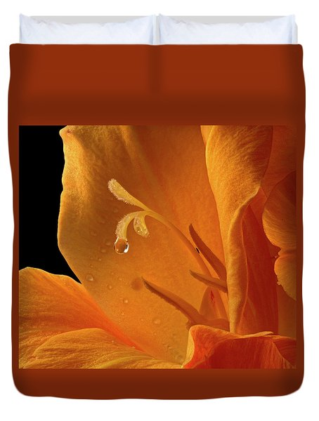 Duvet Cover featuring the photograph Single Drop by Jean Noren
