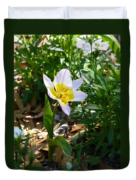 Duvet Cover featuring the photograph Single Flower - Simplify Series by Carla Parris