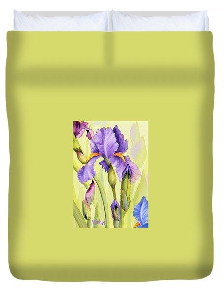 Single Iris Duvet Cover