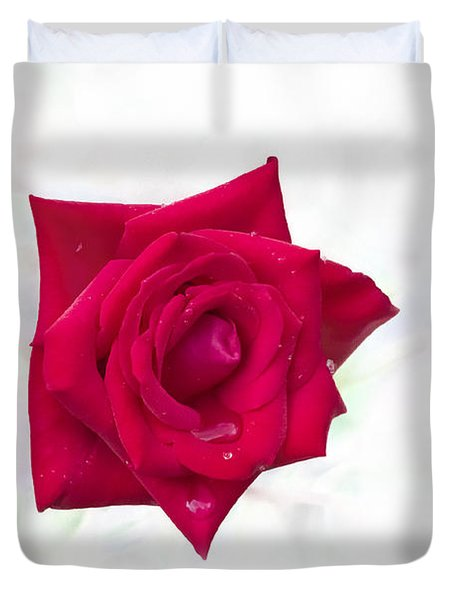 Single Red Rose Duvet Cover