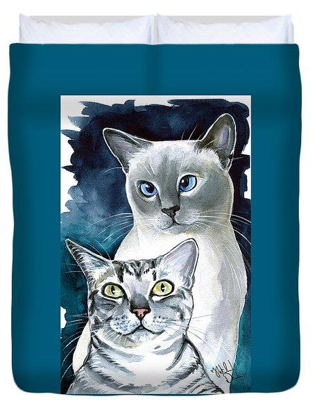 Sini And Nimbus - Cat Portraits Duvet Cover