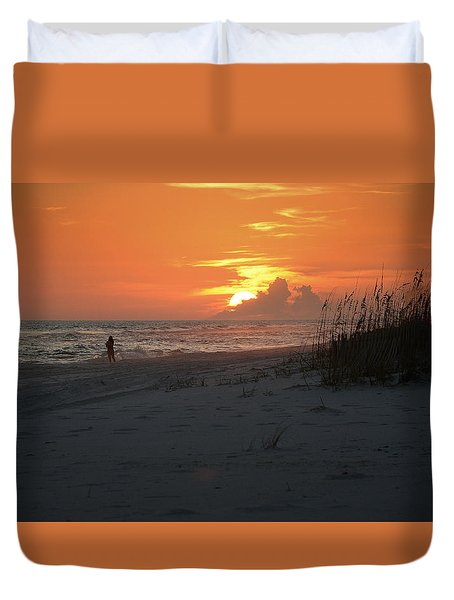 Sinking Into The Horizon Duvet Cover
