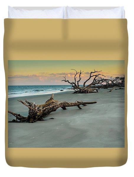 Sunset On Jekyll Island Duvet Cover
