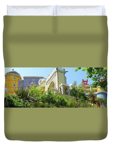 Duvet Cover featuring the photograph Sintra Castle by Patricia Schaefer