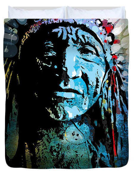 Sioux Chief Duvet Cover by Paul Sachtleben